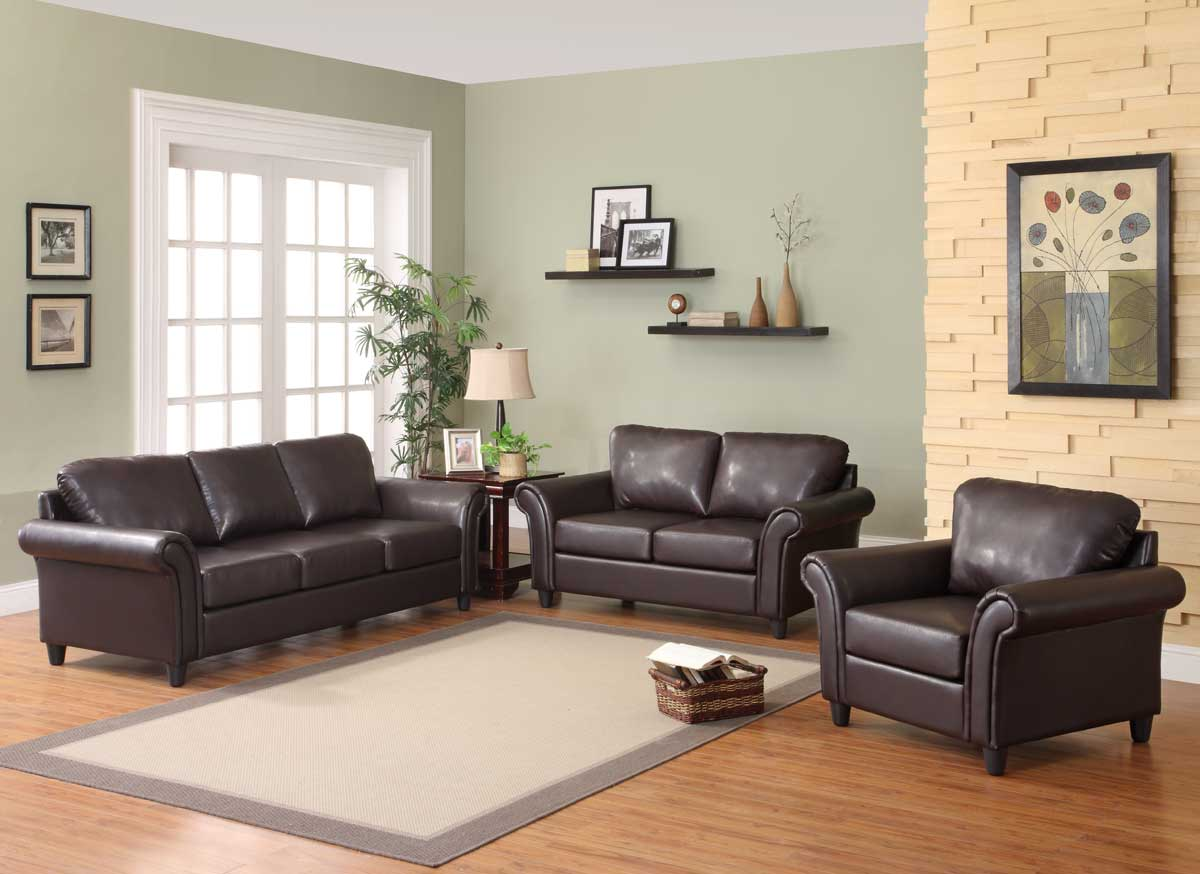 Brown bi cast homelegance u living tv as focus in modern living room