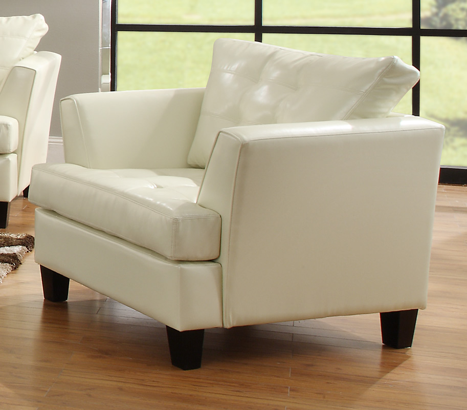 Della All Bonded Leather Chair - White - Homelegance