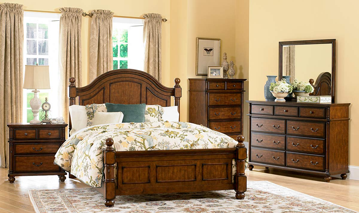 Homelegance langston night stand 1746 4 at for Country bedroom furniture