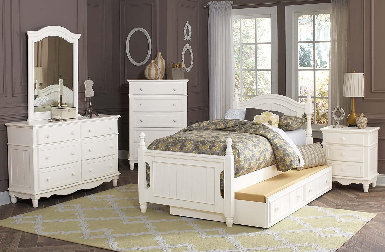 Homelegance Clementine Bedroom Set - White