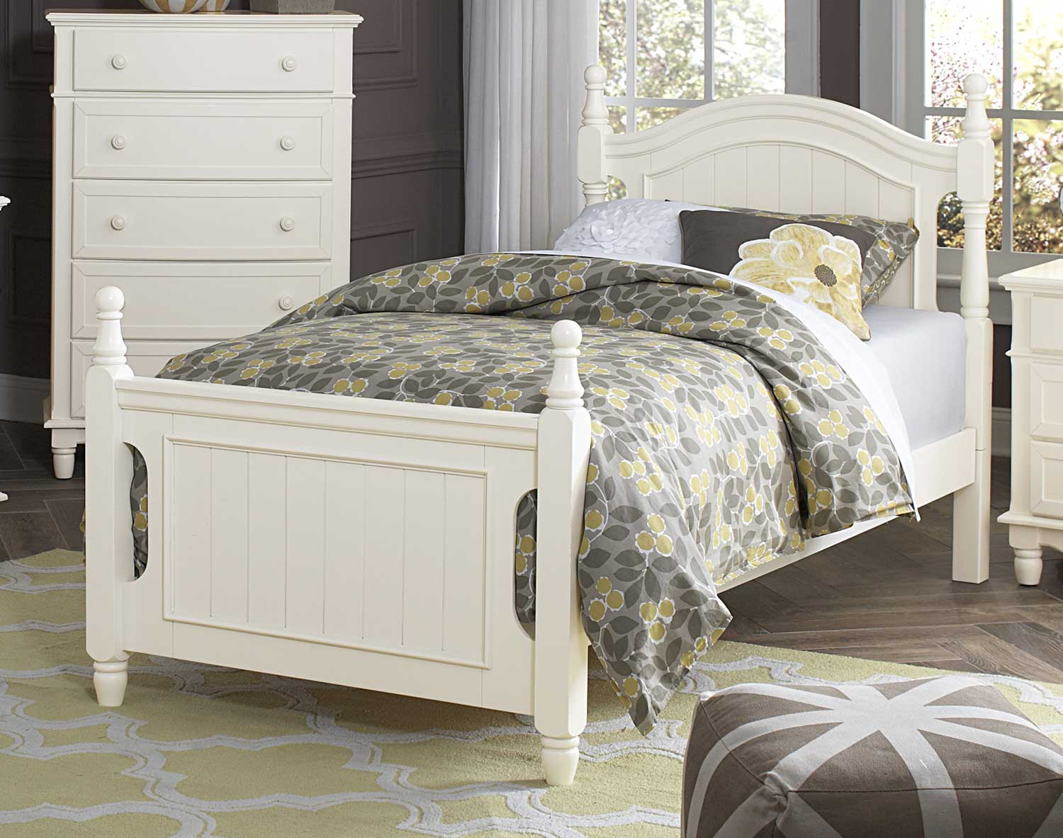 Homelegance Clementine Bed - White