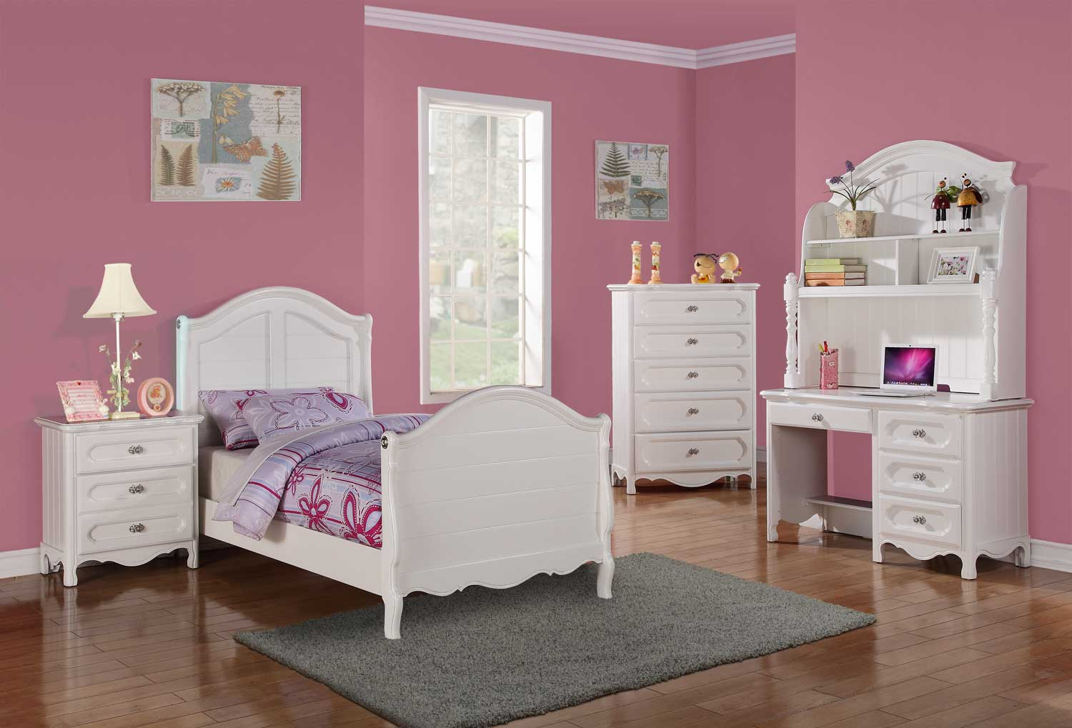 homelegance hayley bedroom set white b2007 bed set at
