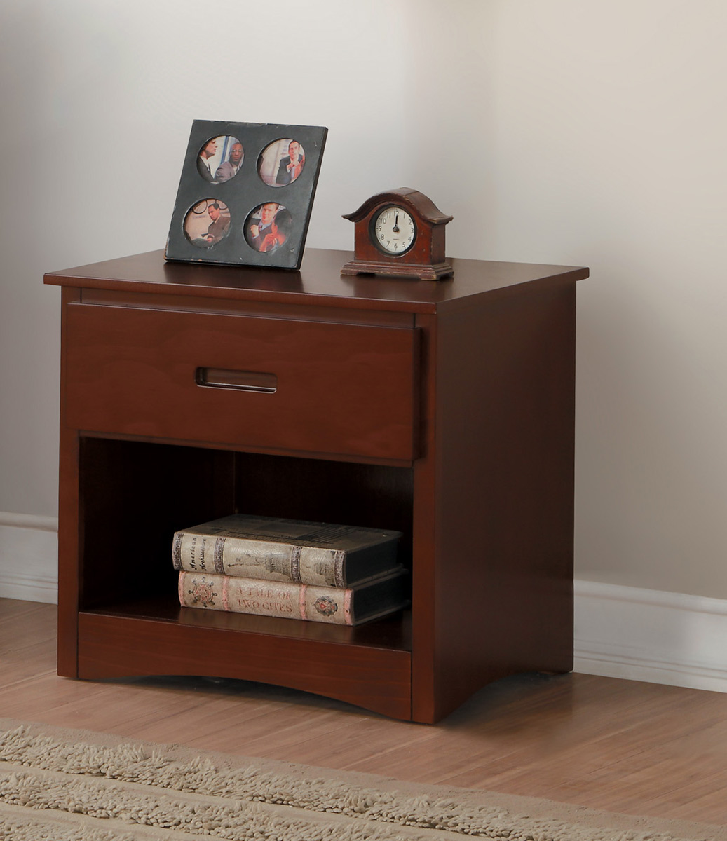 Homelegance Rowe Night Stand - Dark Cherry