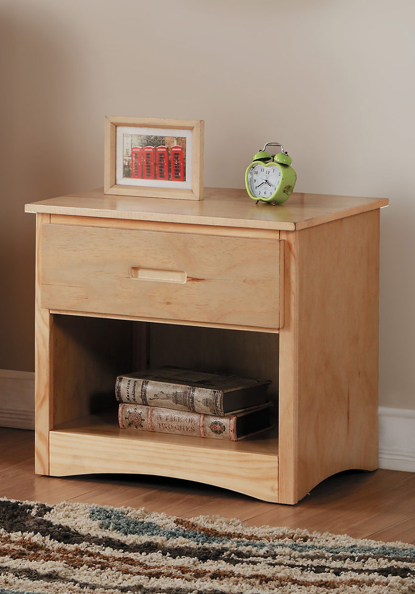 Homelegance Bartly Night Stand - Natural Pine