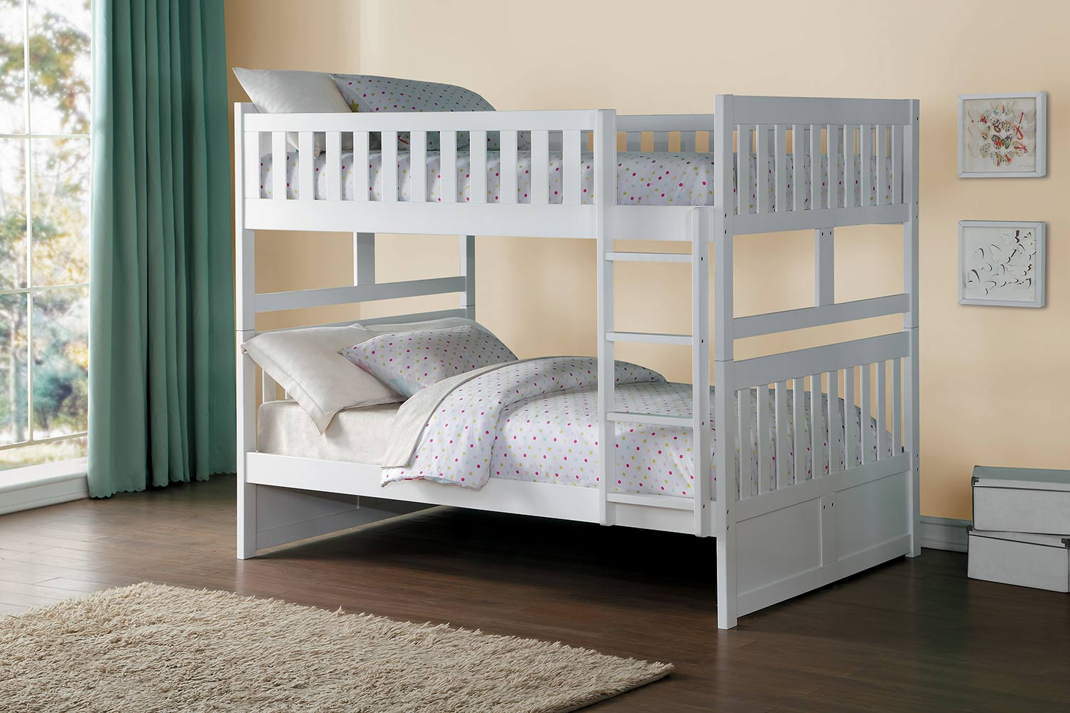 Homelegance Galen Full over Full Bunk Bed - White
