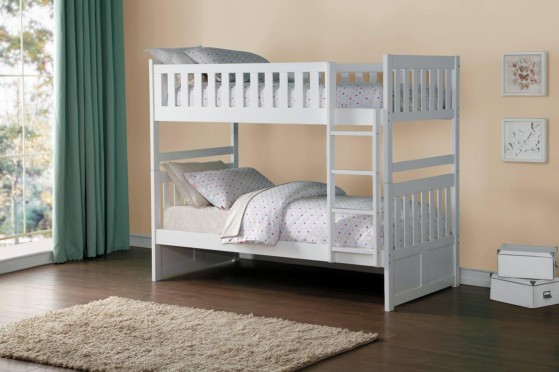 White Bunk Bed Galen