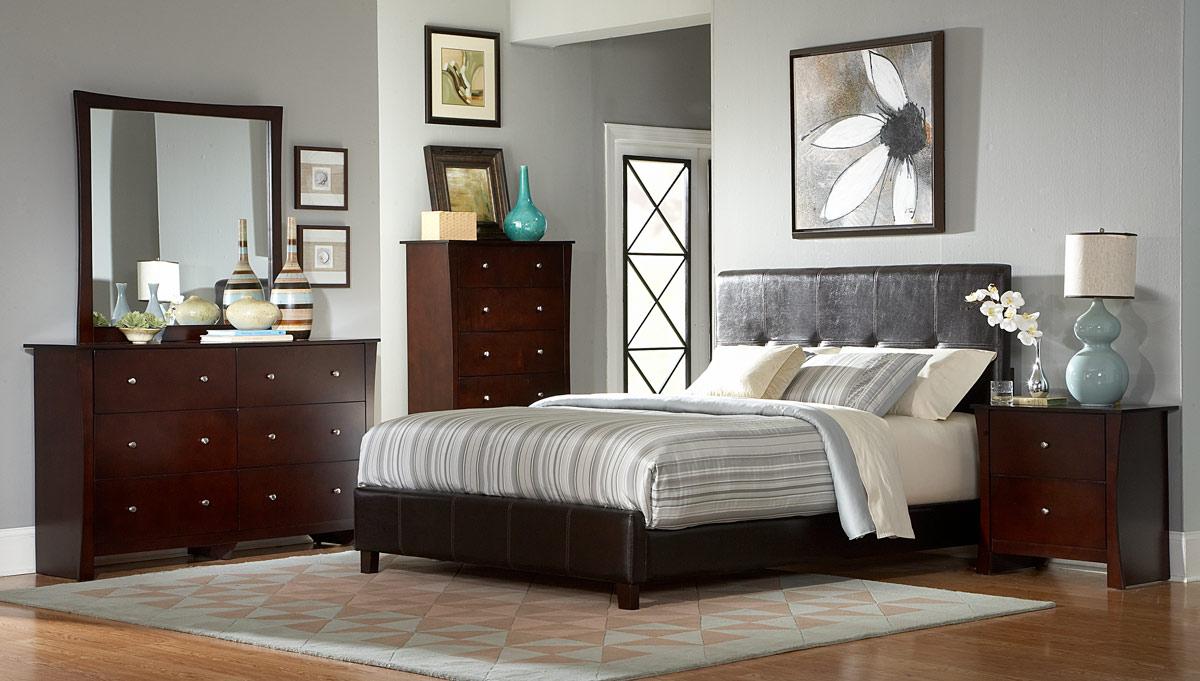 Coaster Phoenix Queen Size Platform Bed In Cappuccino