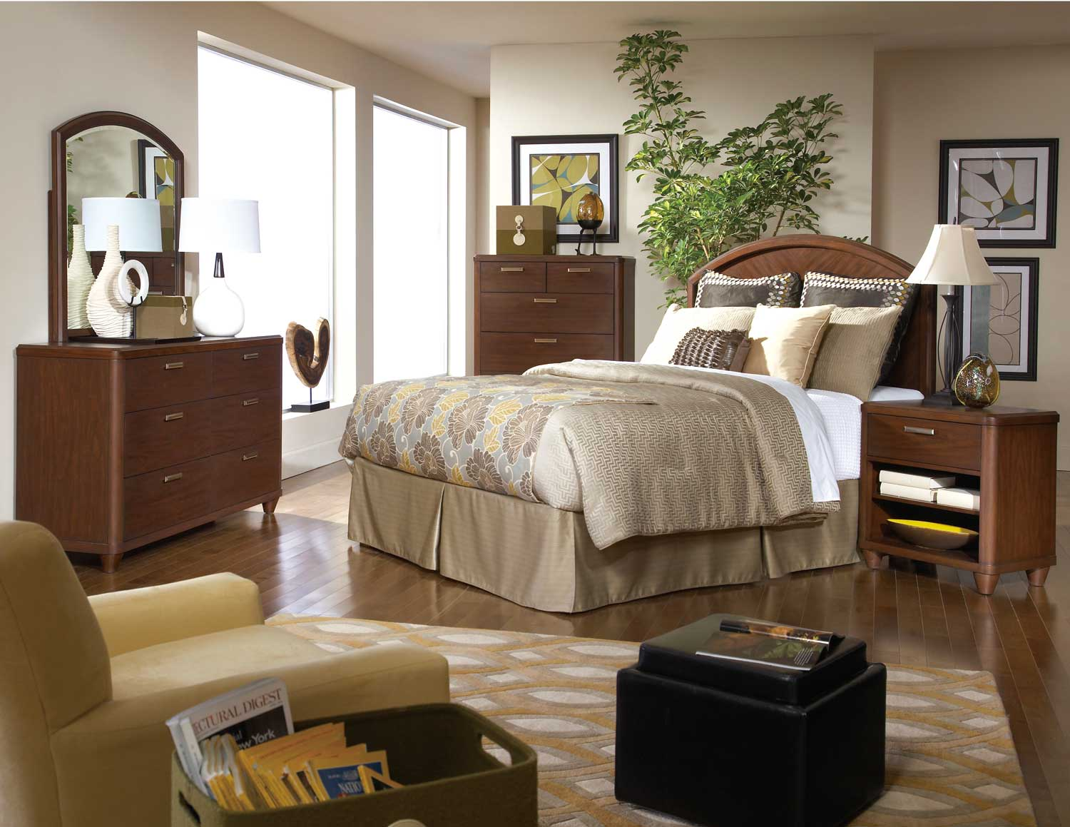 Homelegance Beaumont Bedroom Set - Brown Cherry
