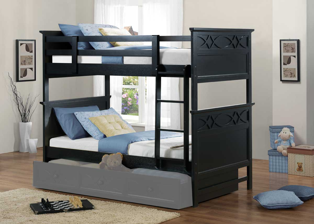 homelegance sanibel bunk bed black