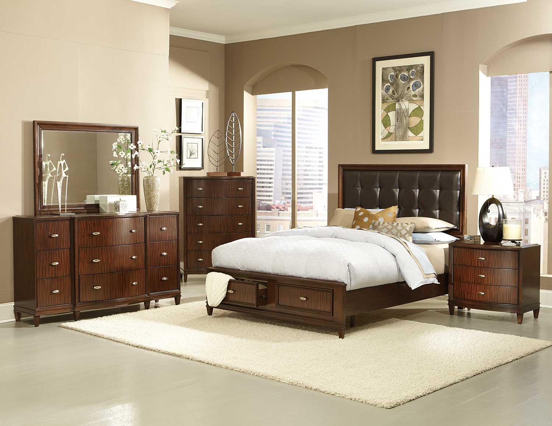 Homelegance Abramo Platfrom Bedroom Set - Dark Brown