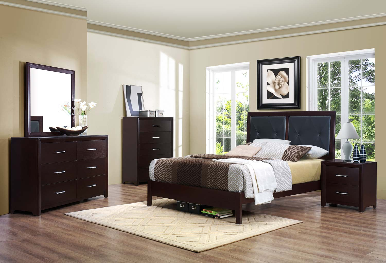 Homelegance Edina Bedroom Set - Brown Espresso