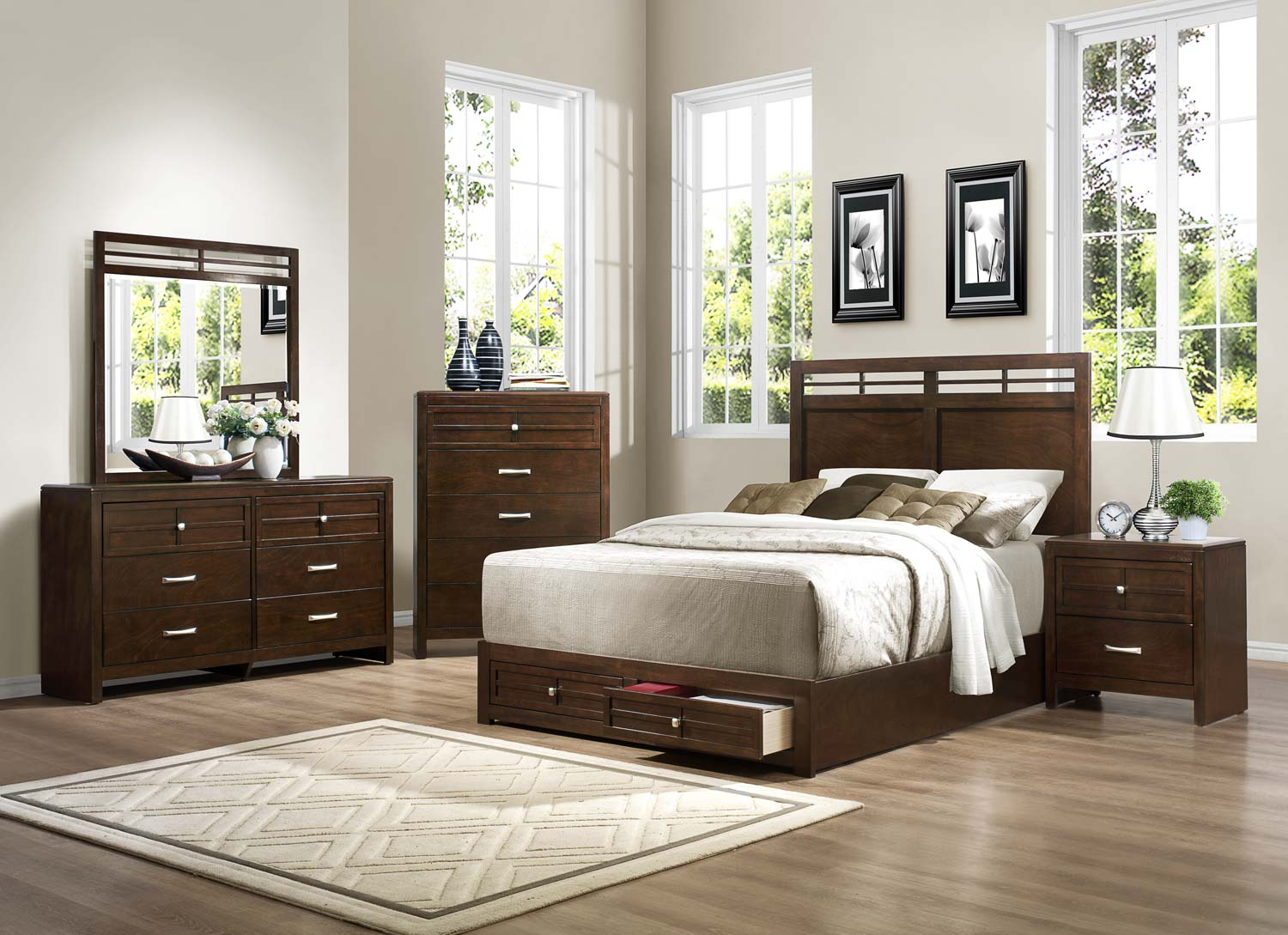 Homelegance Greenfield  Bedroom Set - Espresso