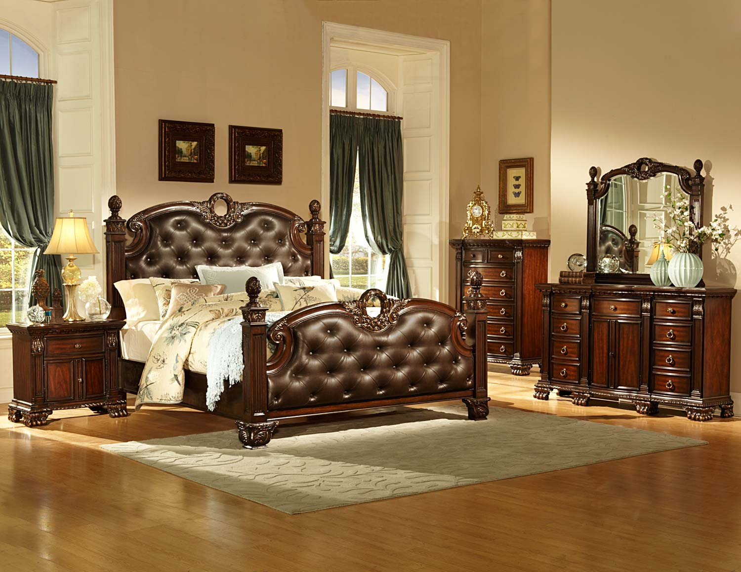 Homelegance Orleans Bedroom Set - Cherry