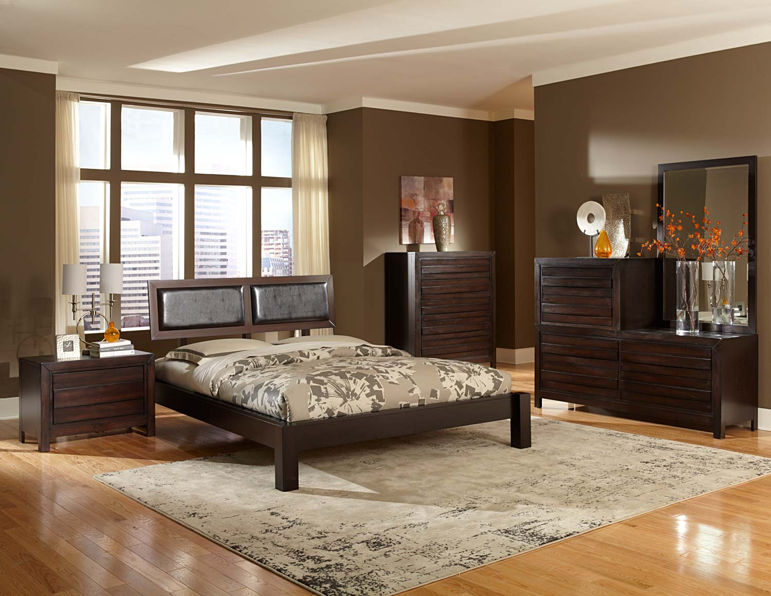 Homelegance Danika Platform Bedroom Set Dark Espresso B2205 Bed