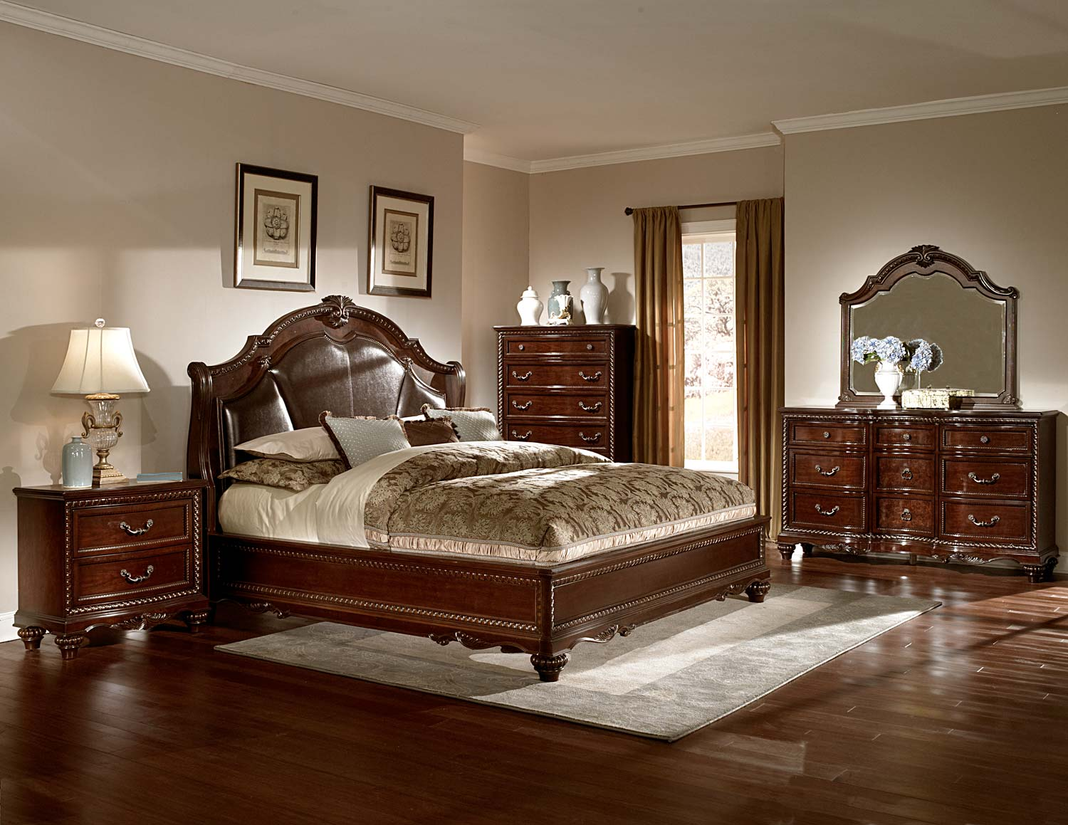 Homelegance Hampstead Court Bedroom Set Cherry B2214 Bed