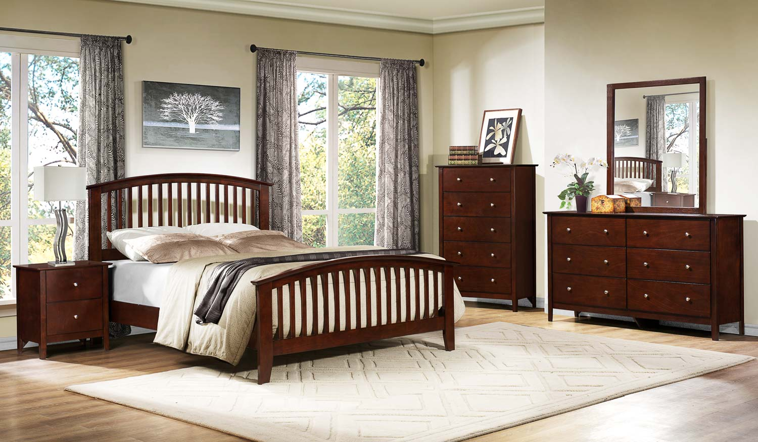 Homelegance Nancy Bedroom Set - Merlot