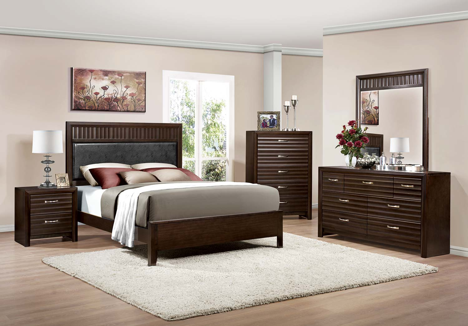 Homelegance Hilton Bedroom Set - Espresso