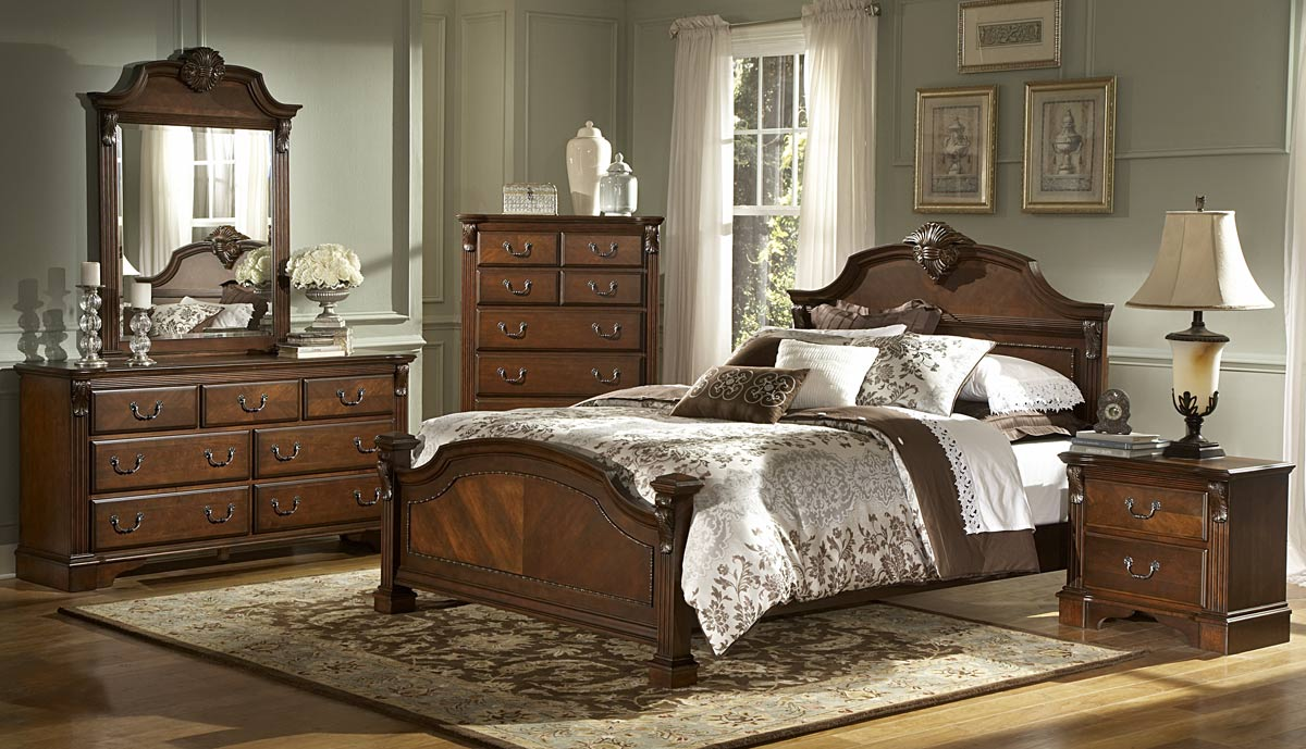 Homelegance Legacy Bedroom Set - Brown Cherry