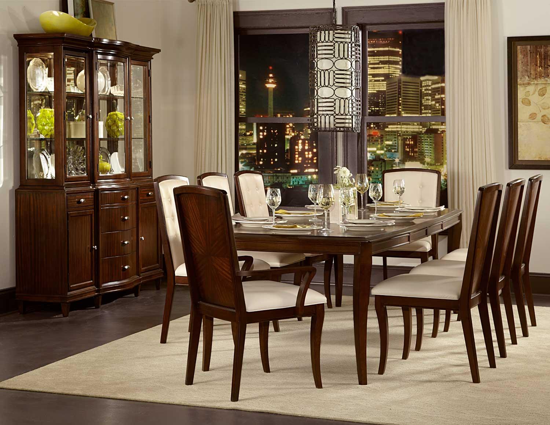 Homelegance Abramo Dining Set - Sapele/Walnut Inlay