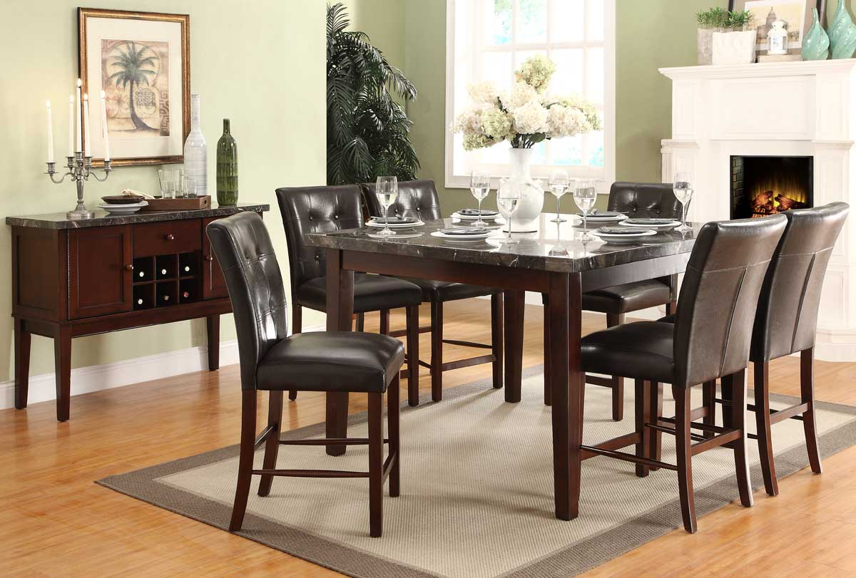 Homelegance Decatur Counter Height Dining Set - Rich Cherry