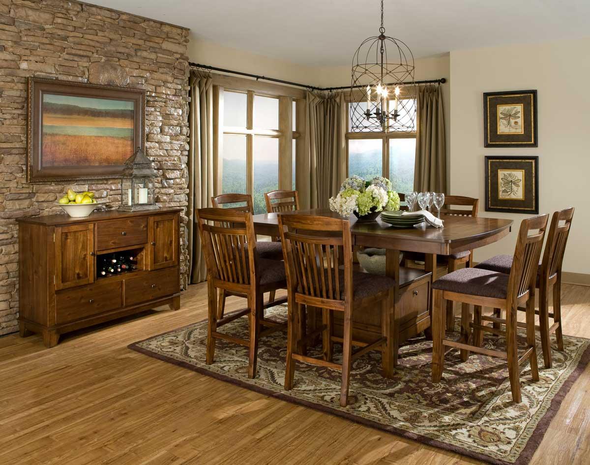 Homelegance Marcel Counter Height Dining Set - Warm Oak