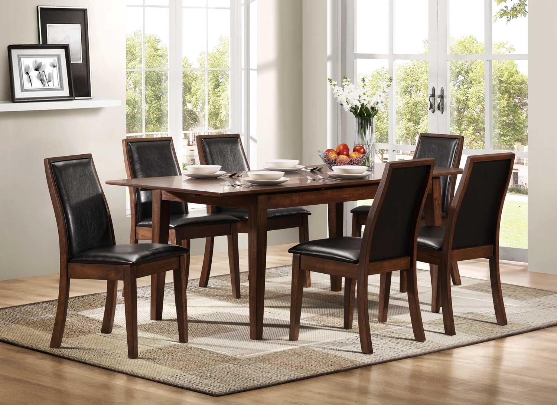 Homelegance Cormac Dining Set - Dark Oak