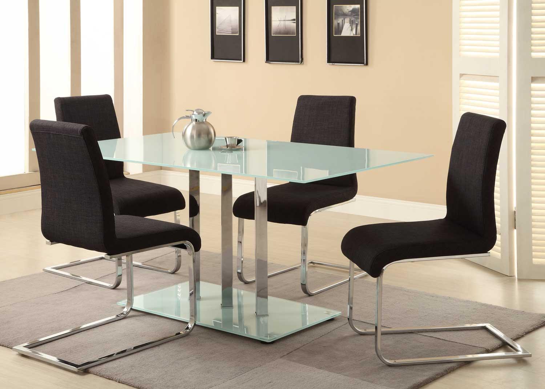 Homelegance Goran Glass Top Dining Set - Glass/Chrome