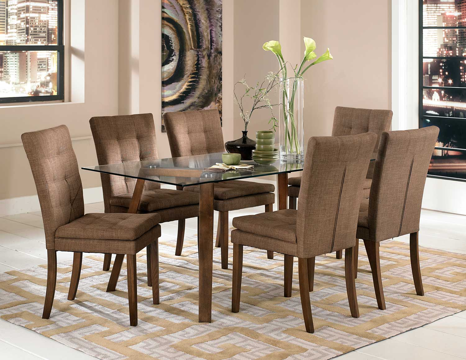 Homelegance Maitland Dining Set - Natural
