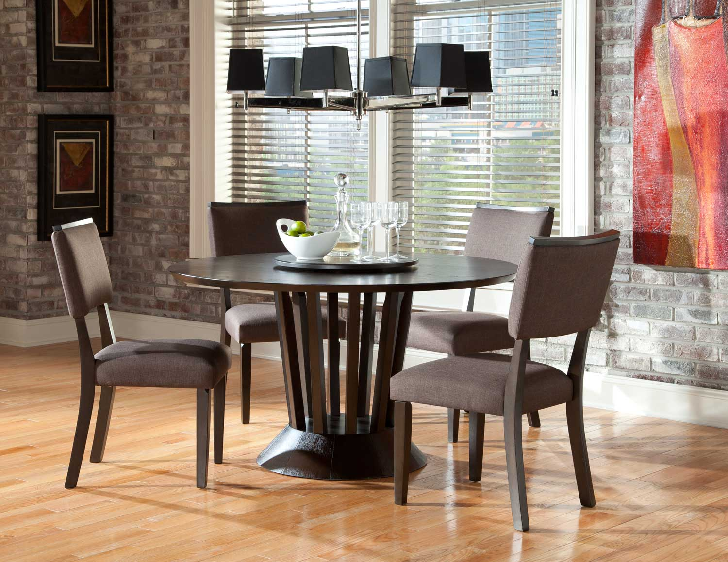 Homelegance Lobelia  Round Dining Set - Dark Walnut