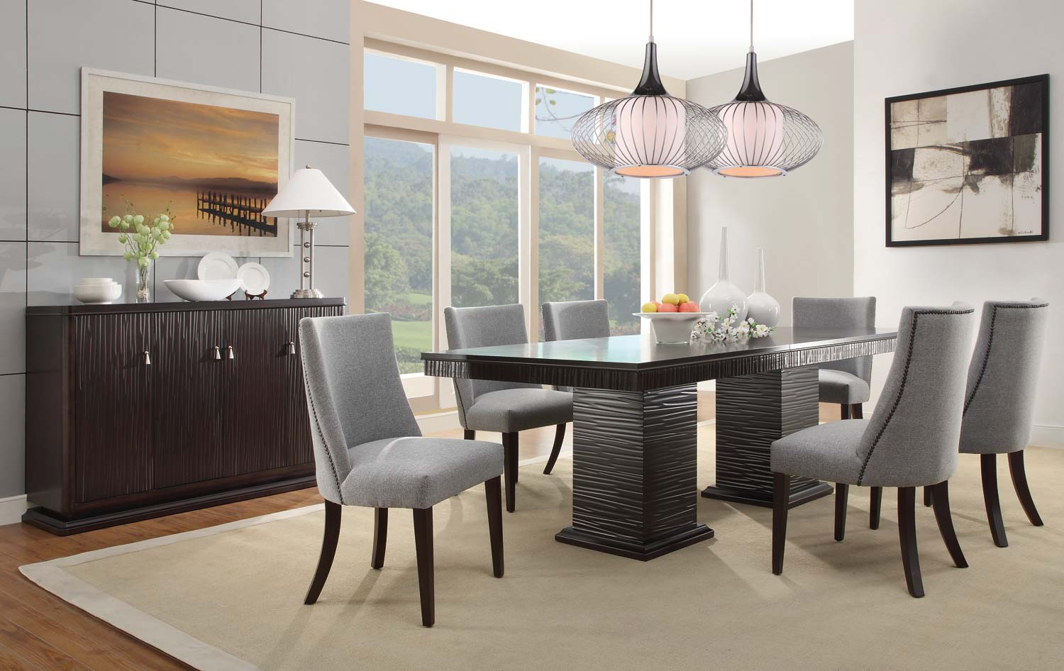 Homelegance Chicago Dining Set Espresso D2588 92 At