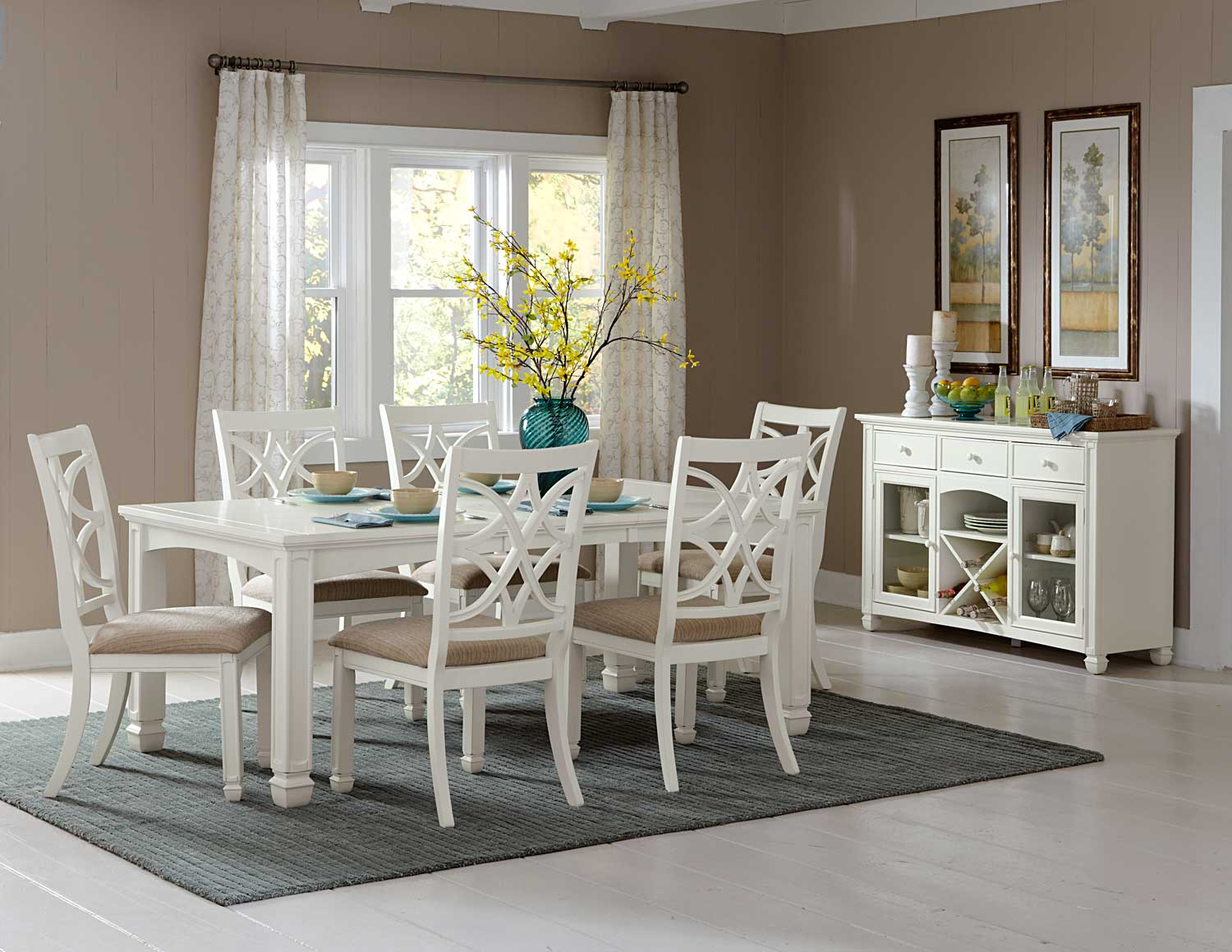 Homelegance Kentucky Park Dining Set - White
