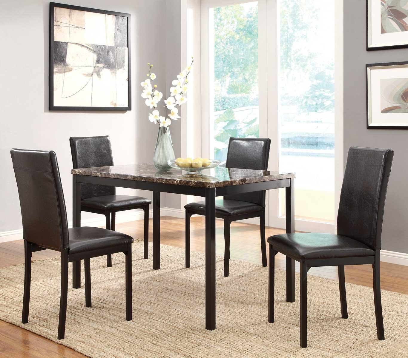 Homelegance Tempe Dining Set - Black
