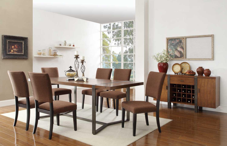 Homelegance Northwood Dining Set - Natural Brown