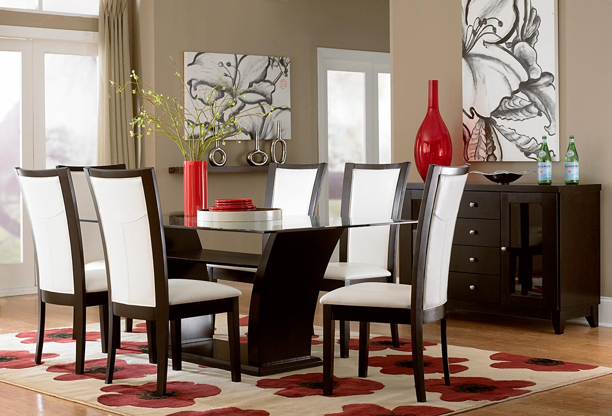 Homelegance Daisy II Dining Set - White Leatherette
