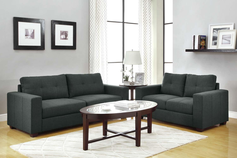Homelegance Ashmont Sofa Set - Dark Grey - Linen