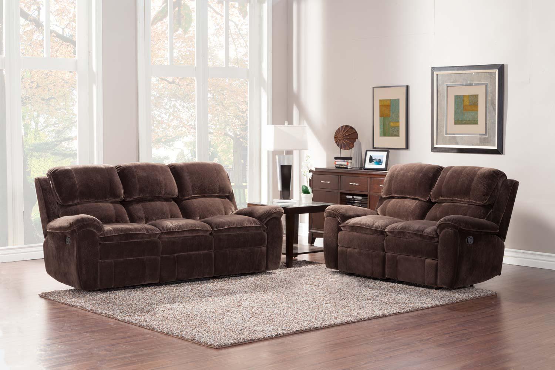 Cheap Homelegance UCP Reilly Reclining Sofa Set Textured Plush Microfiber Product Photo