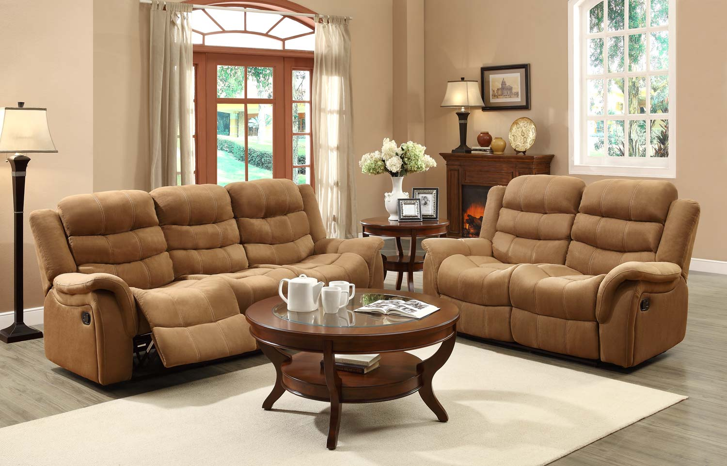 Information about Homelegance Huxley Reclining Sofa Set Product Photo