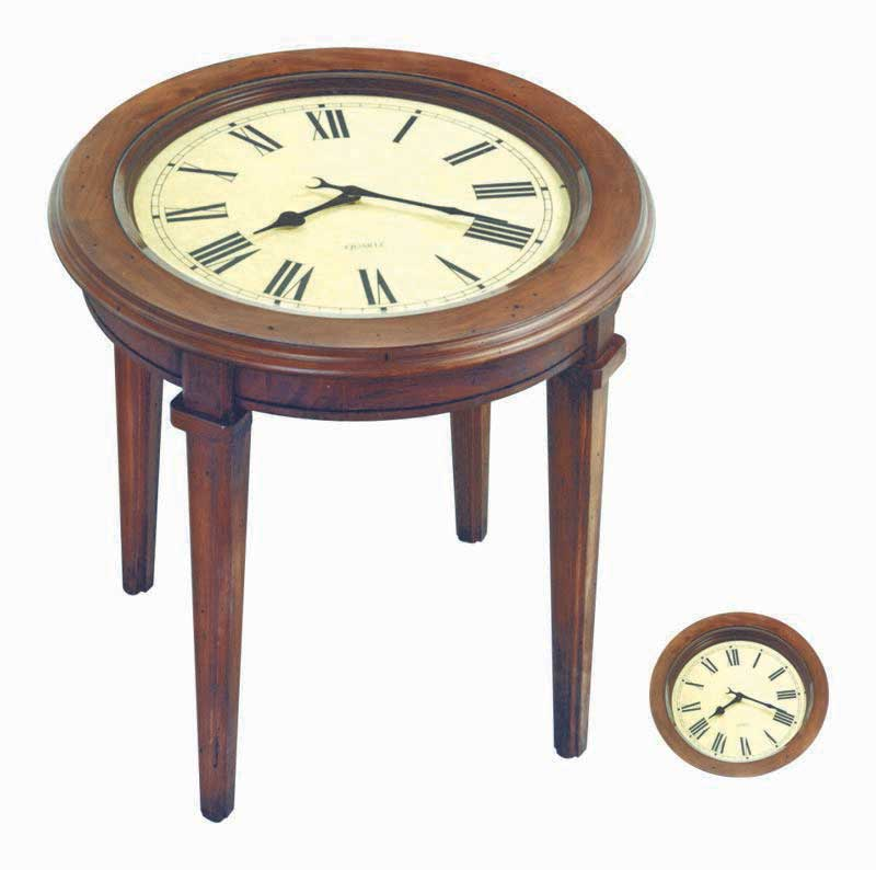Harris Marcus Home Table With Clock Face 22 Inches Hmh