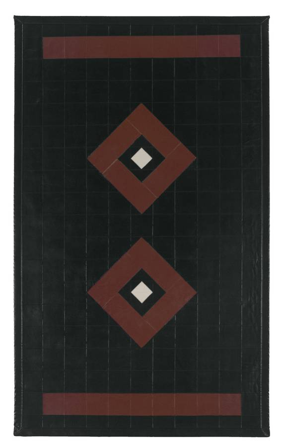 Art Leather - Diamond - Black-Brown - Hellenic Rug