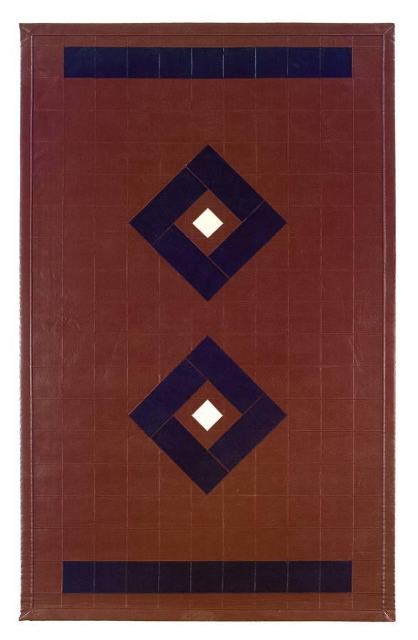 Art Leather - Diamond - Brown-Black - Hellenic Rug
