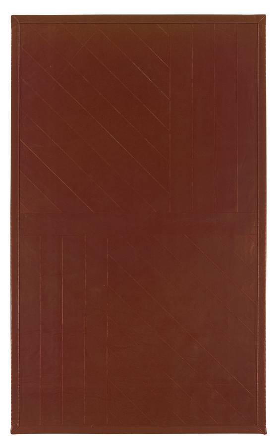 Art Leather - Contemporary - Brown - Hellenic Rug
