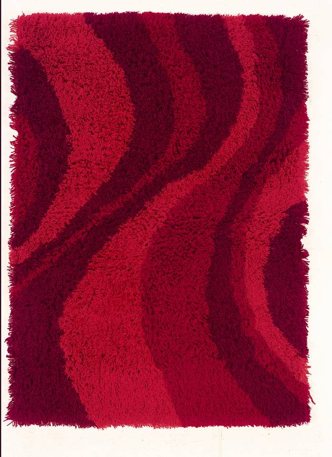 Ultimate Lava Shag - Red - Hellenic Rug
