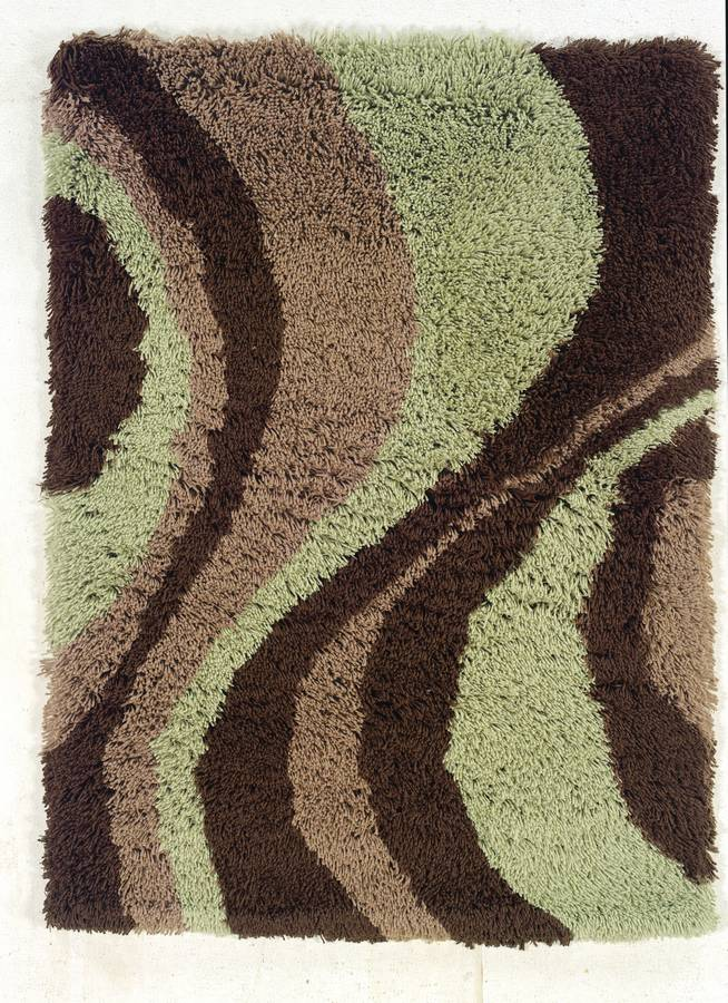 Ultimate Lava Shag - Beige-Green - Hellenic Rug
