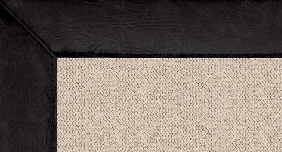 Athena - Natural-Black Leather - Hellenic Rug