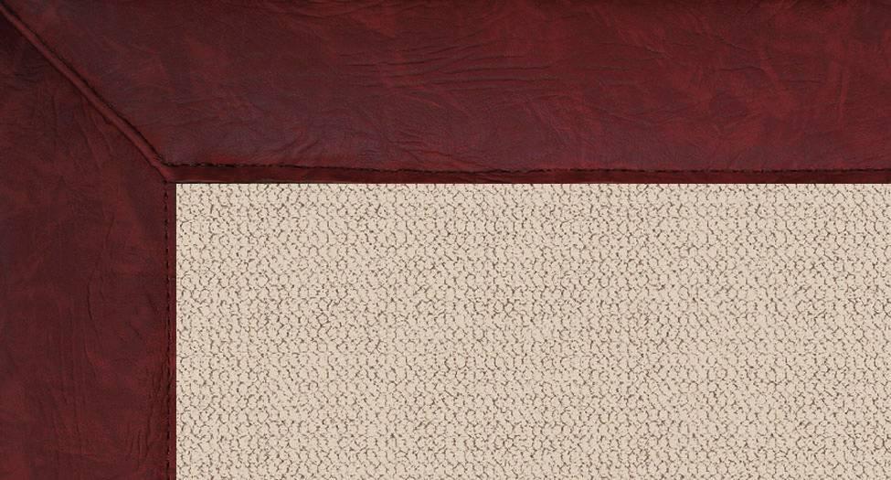 Athena - Natural-Burgundy Leather - Hellenic Rug