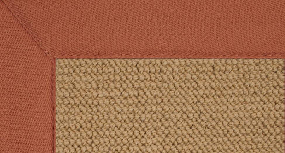 Athena - Sisal-Burnt Orange - Hellenic Rug