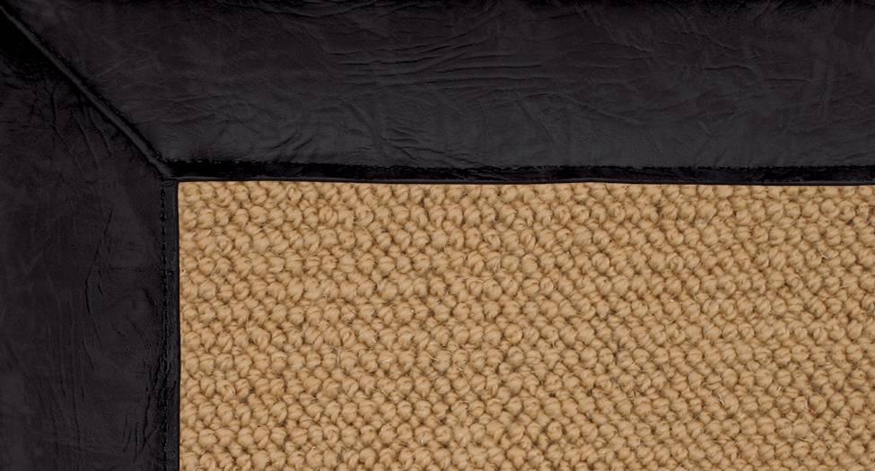 Athena - Sisal-Black Leather - Hellenic Rug