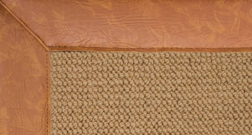 Athena - Sisal-Gold Leather - Hellenic Rug