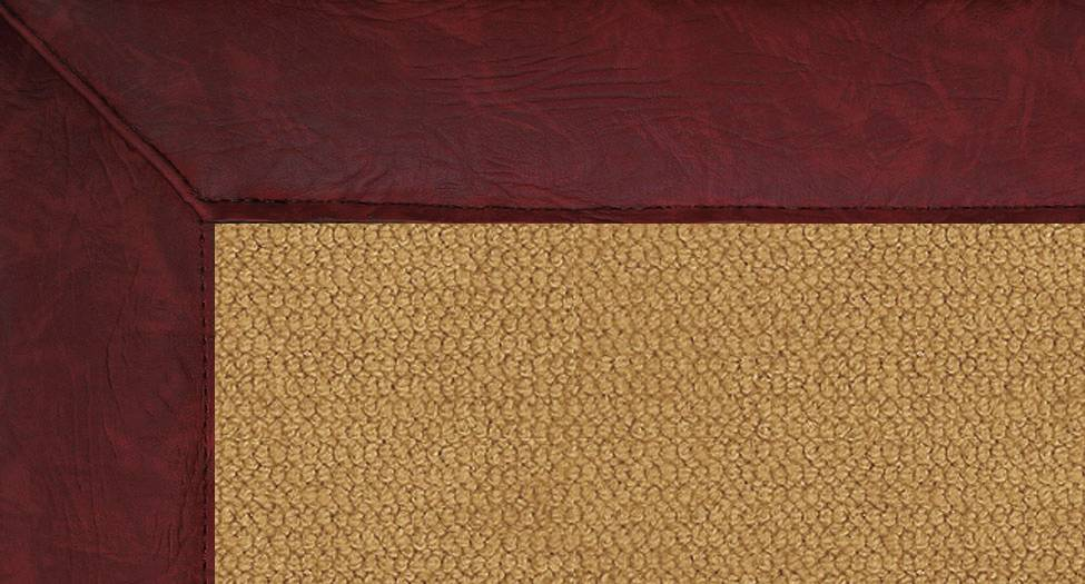 Athena - Cork-Burgundy Leather - Hellenic Rug