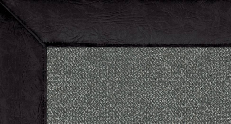 Athena - Charcoal-Black Leather - Hellenic Rug